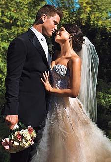 Ченнинг Татум и Дженна Девон в день свадьбы.