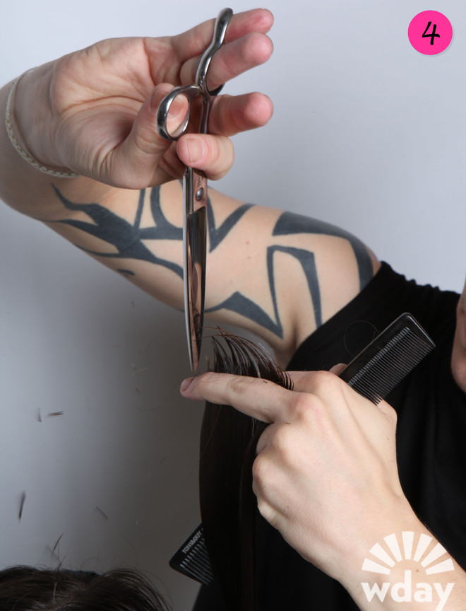 стрижка волос лесенкой фото