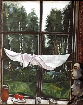 """Марк Шагал (Marc Chagall), """"Окно на даче"""", 1915"""