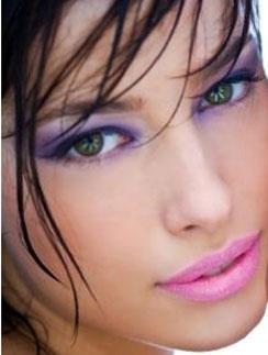 Сиреневый макияж