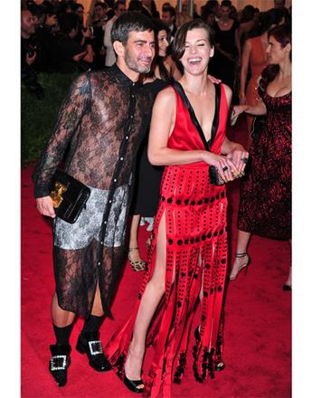 Марк Джейкобс (Marc Jacobs) и Мила Йовович (Milla Jovovich)