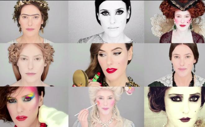 2000 лет эволюции макияжа за 6 минут