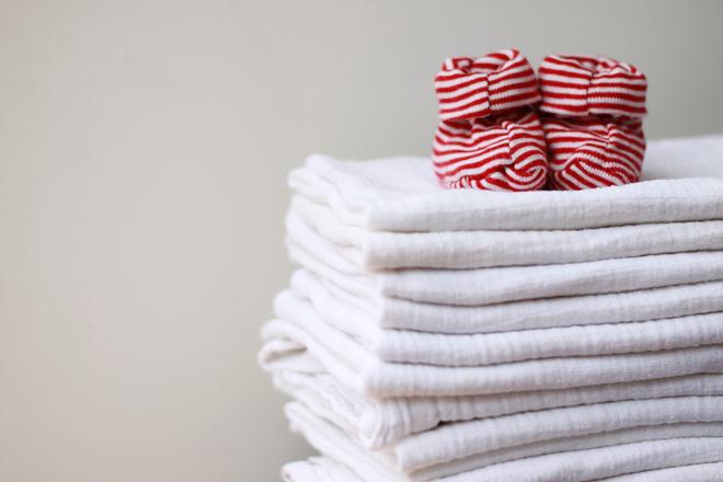 как гладить пеленки