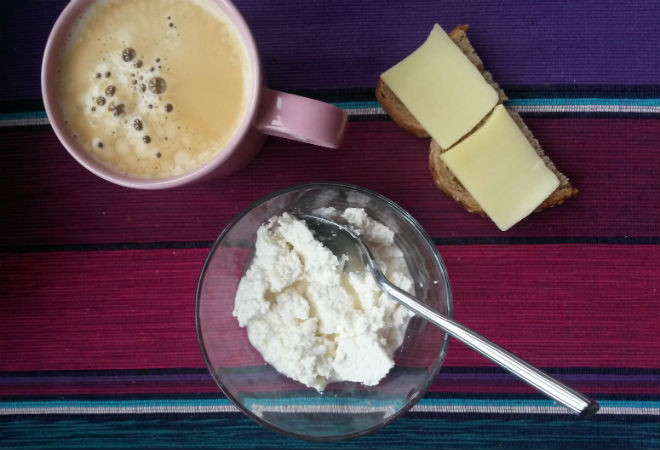 Творог, кофе