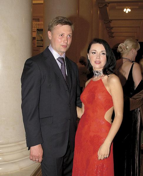 Анастасия со вторым мужем Дмитрием Стрюковым. 2005 г.