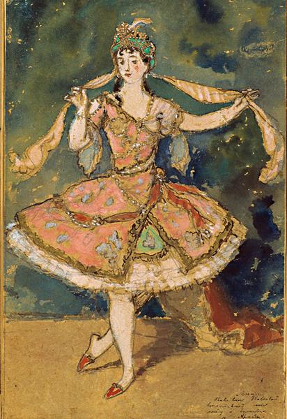 Александр Бенуа «Армида». Эскиз костюма к балету «Павильон Армиды». 1907.