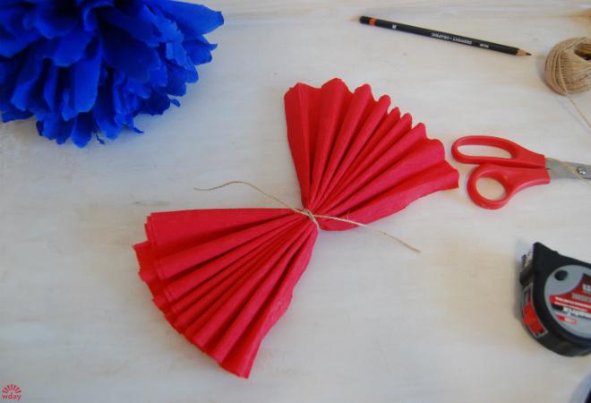 Как делать бумажные шары фото