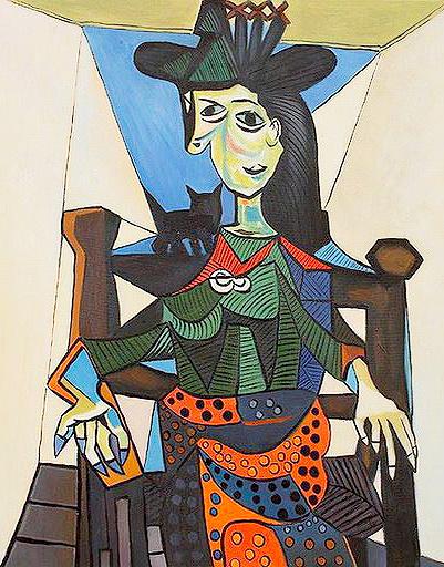 «Дора Маар с кошкой», Пабло Пикассо
