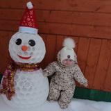 Моя первая зима и мой первый снеговик от любимой мамочки!!! Незамайкин Дима. 10 месяцев. П. Дубна.