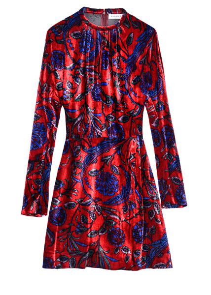 Бархатное платье Sandro, 18 300 (Podium Market)