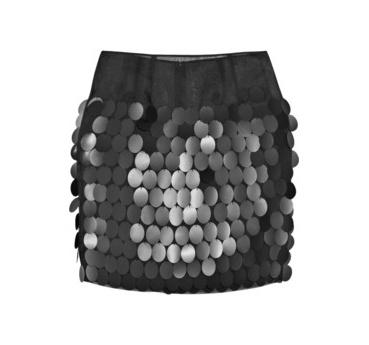 Мини-юбка, расшитая пайедками