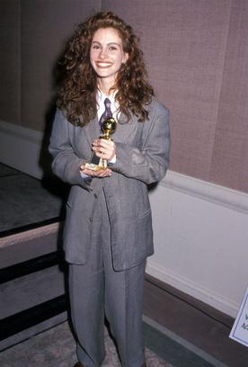 Джулия Робертс на вручении премии «Золотой глобус», 1990 год