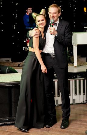 Андрей Бурковский с женой Ольгой, фото