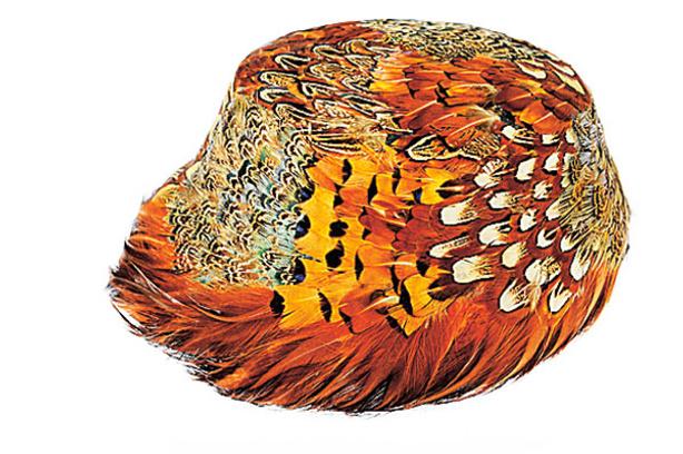 Шляпа из перьев, винтаж