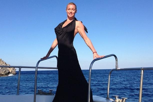 Анастасия Волочкова на яхте