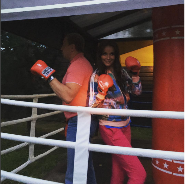 Оксана Федорова с мужем Андреем