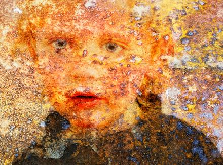 Лицо ребенка, крупный план