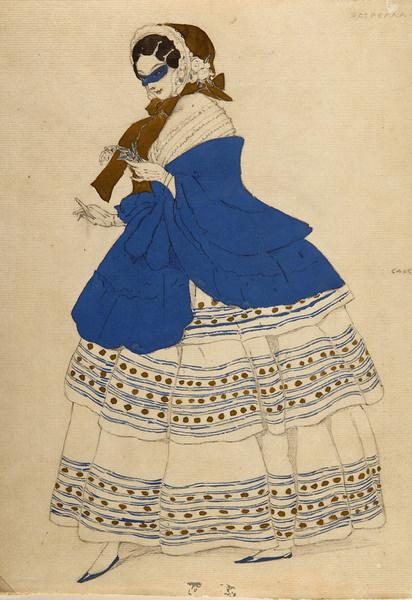 Лев Бакст. Эскиз костюма Эстреллы для балета «Карнавал». 1910.