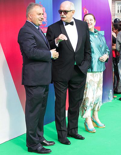 Леонид Верещагин, Никита Михалков и Наталья Семина