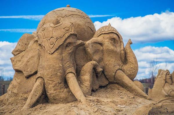 Песчаные скульптуры Этномир