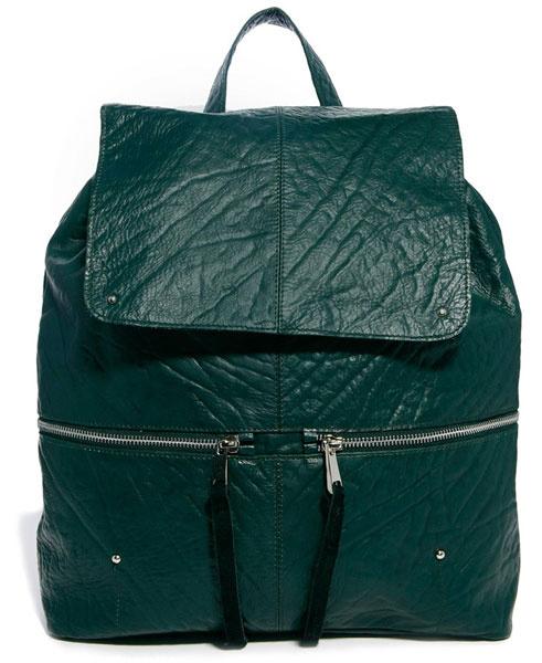 Кожаный рюкзак Asos