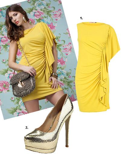 1. Платье Lamania Trend; 2 800 рублей; 2. туфли Lamania, 2 930 рублей