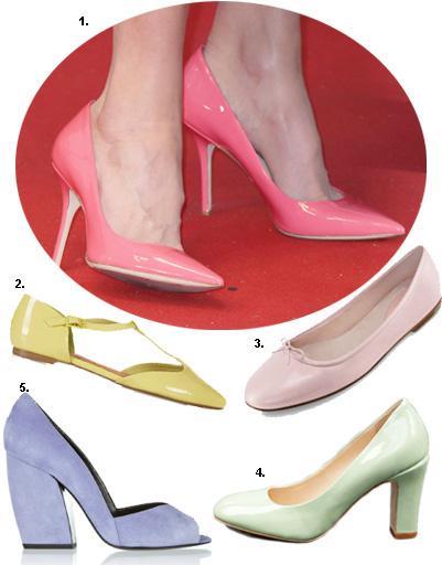 1. Николь Кидман; 2. балетки Topshop; 3. балетки Bloch; 4. туфли Carlo Pazolini; 5. туфли Pierre Hardy