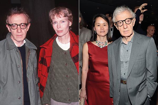 Вуди Аллен с Мией Фэрроу (слева) и Сун-и