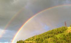 Двойная радуга в Красноярске