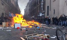 Более 100 человек пострадали во время демонстраций в Риме
