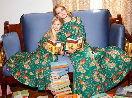Наталья Водянова с дочкой Невой