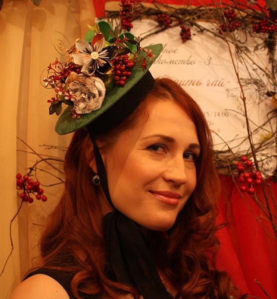 Шляпка «Флористическая композиция», Евгения Артемьева