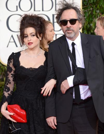 Тим Бертон (Tim Burton) и Хелена Бонем Картер (Helena Bonham Carter)