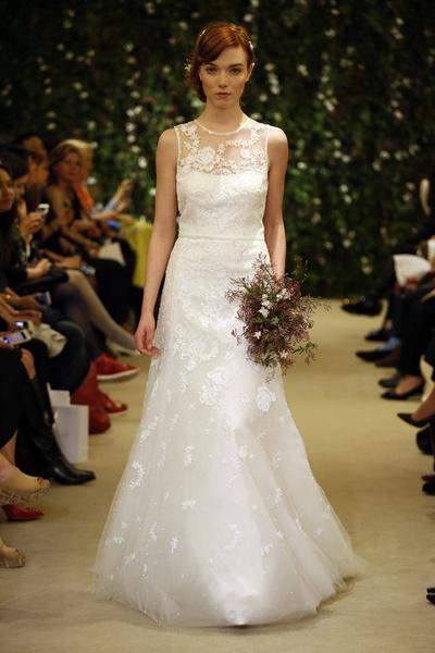 Показ Carolina Herrera на Неделе свадебной моды в Нью-Йорке | галерея [1] фото [6]