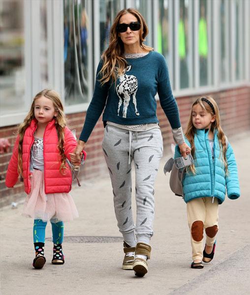 Сара Джессика Паркер с дочерьми Марион и Табитой