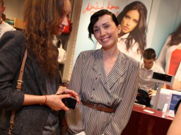 Мария Железнякова на открытии магазина Mavi