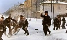 Обновленное, раскрашенное и душевное видео игры в снежки из 1896 года