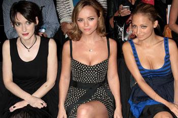 Актриса Вайнона Райдер, актриса Кристина Риччи и светская львица Николь Ричи