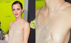 Опасное платье: Эмма Уотсон показала грудь на ковровой дорожке