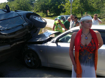 Врач скорой помощи сделал фото Анастасии Волочковой сразу после аварии