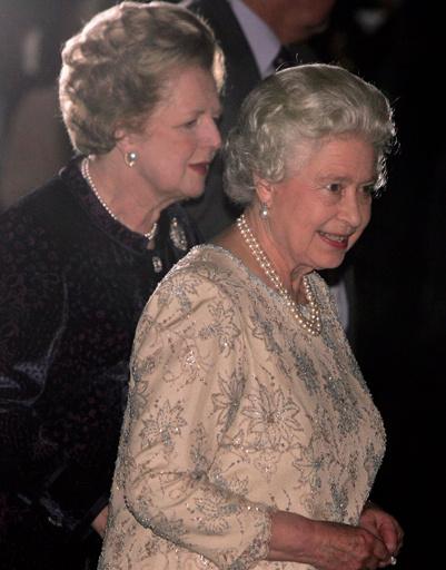 Маргарет Тэтчер (Margaret Tatcher) и Елизавета II