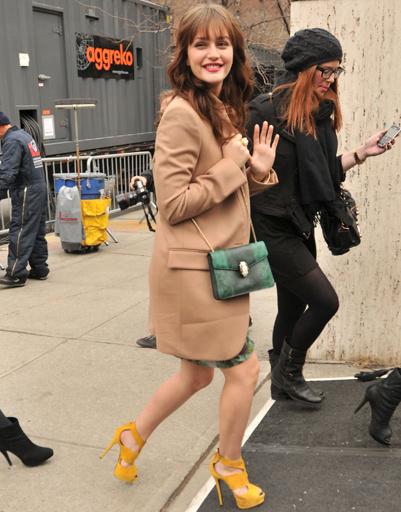 Лейтон Мистер (Leighton Meester) на Неделе моды в Нью-Йорке