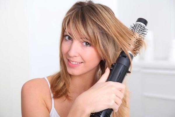 Фен для укладки волос с щеткой фото