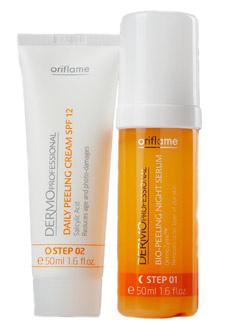 Двухступенчатая программа для проведения энзимного пилинга в домашних условиях, Oriflame. Мягко отшелушивает и обновляет кожу любого типа, даже чувствительной