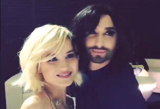 Кончита Вурст и Полина Гагарина Евровидение 2015