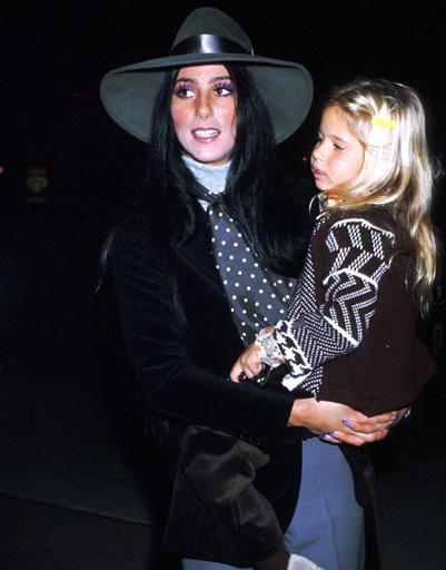 Шер с дочерью, 1974 год