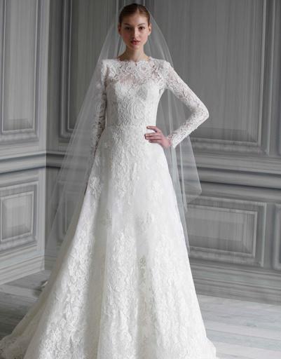 Свадебное платье Monique Lhuillier, коллекция весна-лето 2012