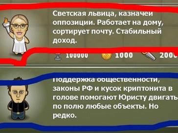 Ксения Собчак стала героиней игры «Демократия».