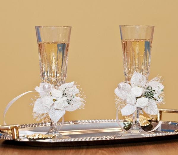 Цветы свадебный бокал