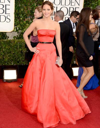 """Дженнифер Лоуренс (Jennifer Lawrence) на """"Золотом глобусе""""-2013"""